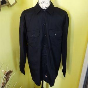 Dickies Black Button Shirt